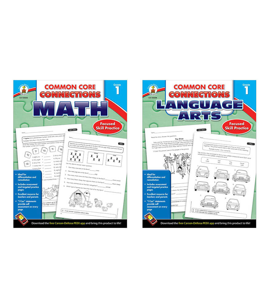 Common Core Connections Grade 1 Workbook Bundle Product Image