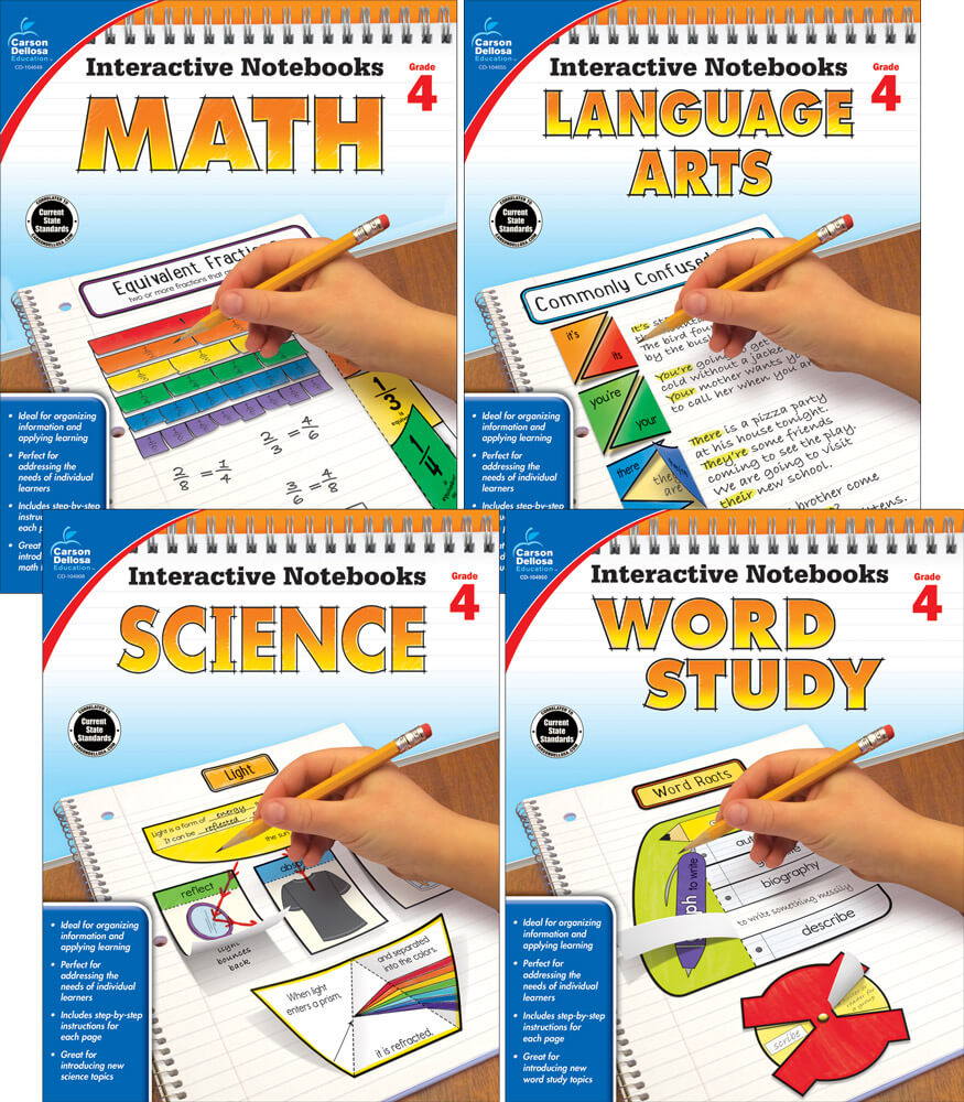 Interactive Notebooks Math, Language Arts, Word Study & Science Resource Book Bundle