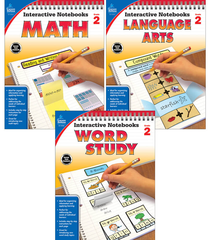 Interactive Notebooks Math, Language Arts & Word Study Resource Book Bundle Product Image