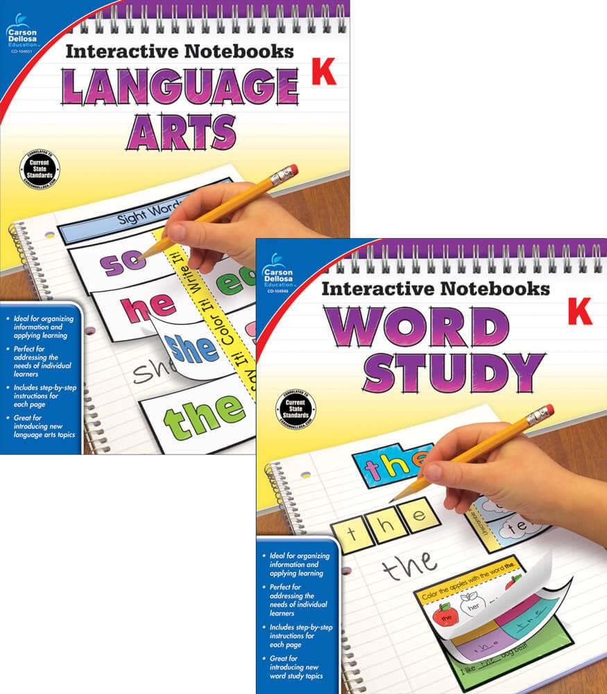 Interactive Notebooks Language Arts & Word Study Resource Book Bundle Product Image