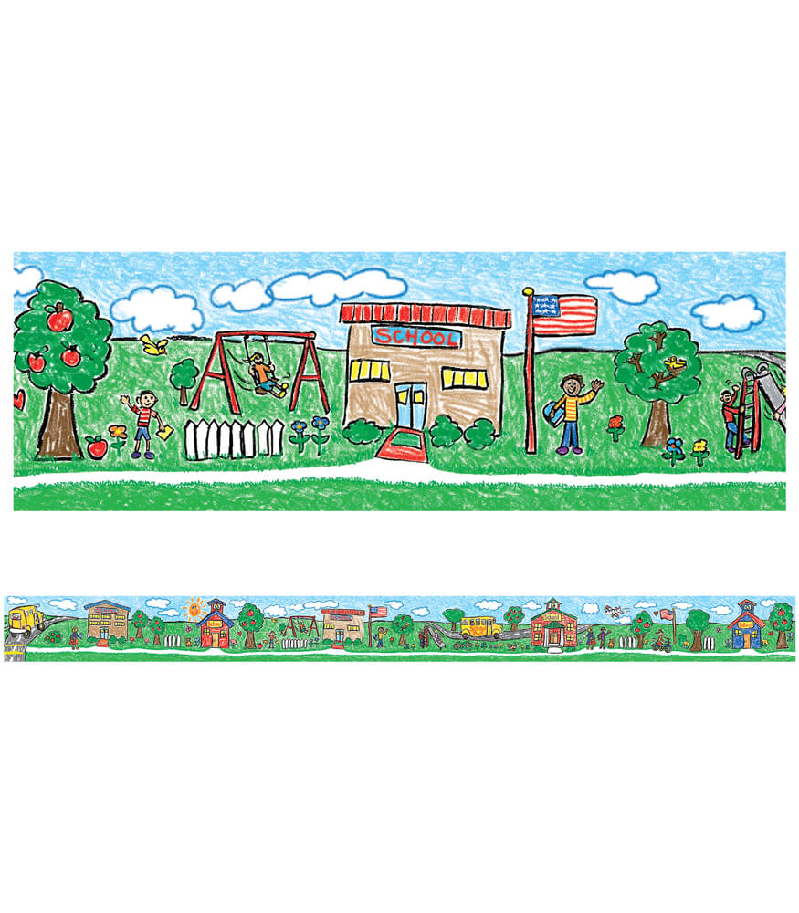 School Days Straight Borders Product Image