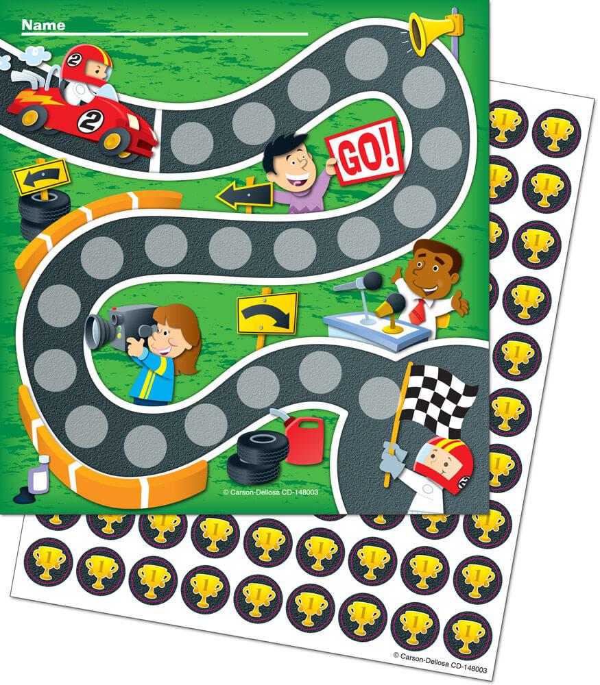 Racing Mini Incentive Charts Product Image