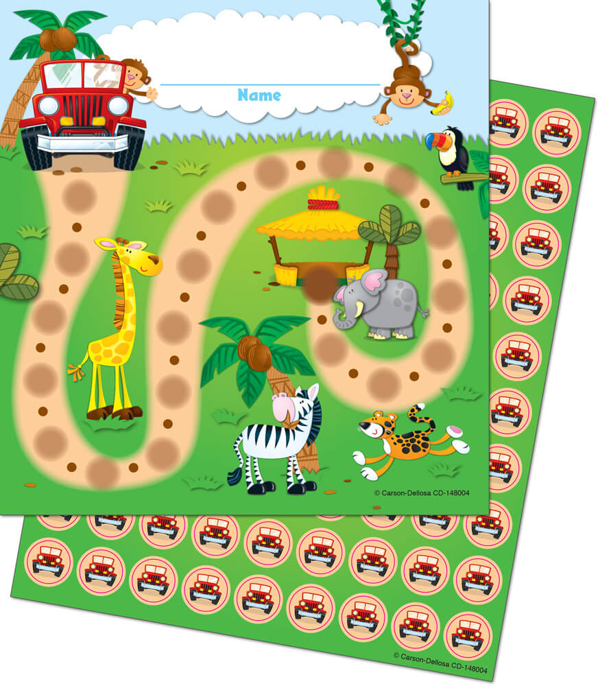 Jungle Safari Mini Incentive Charts Product Image