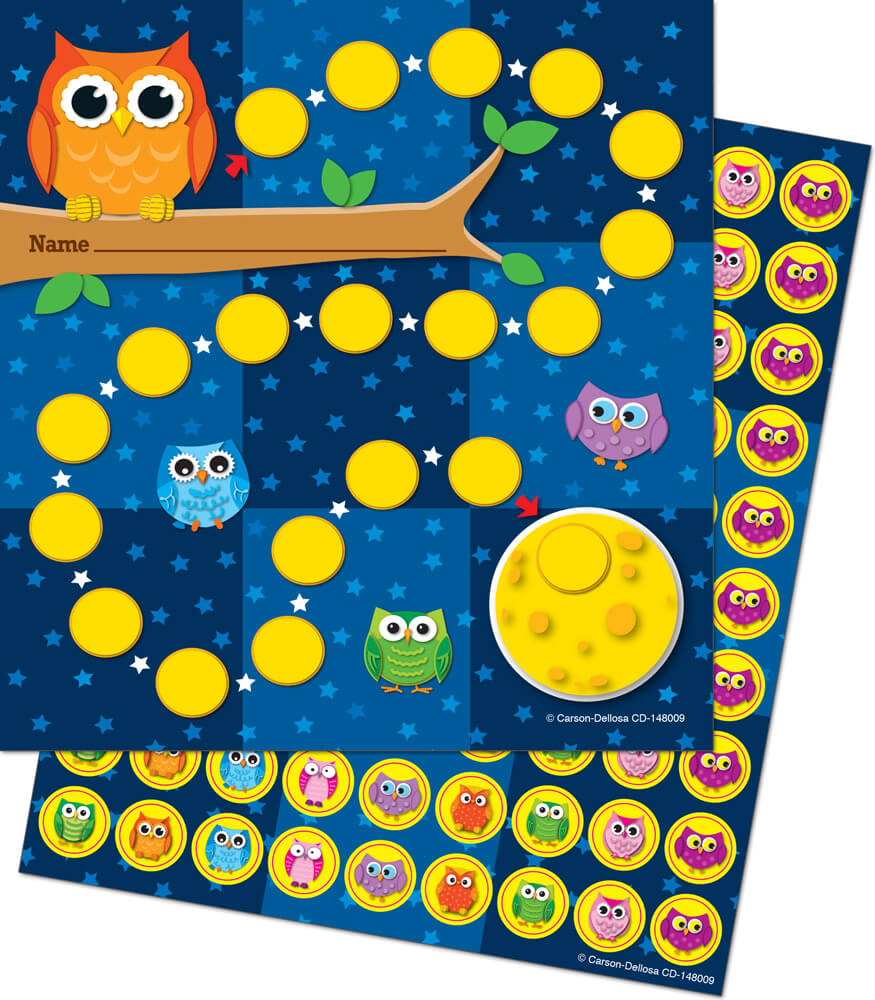 Owls Mini Incentive Charts Product Image