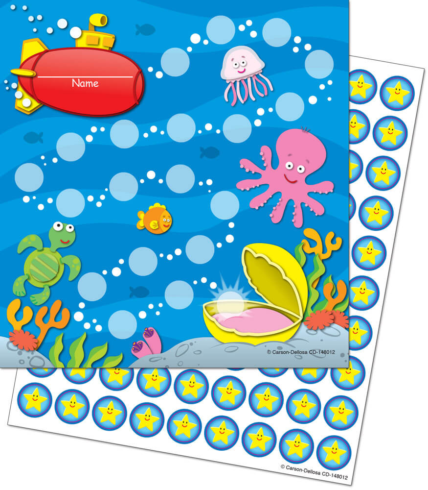 Sea Life Mini Incentive Charts Product Image