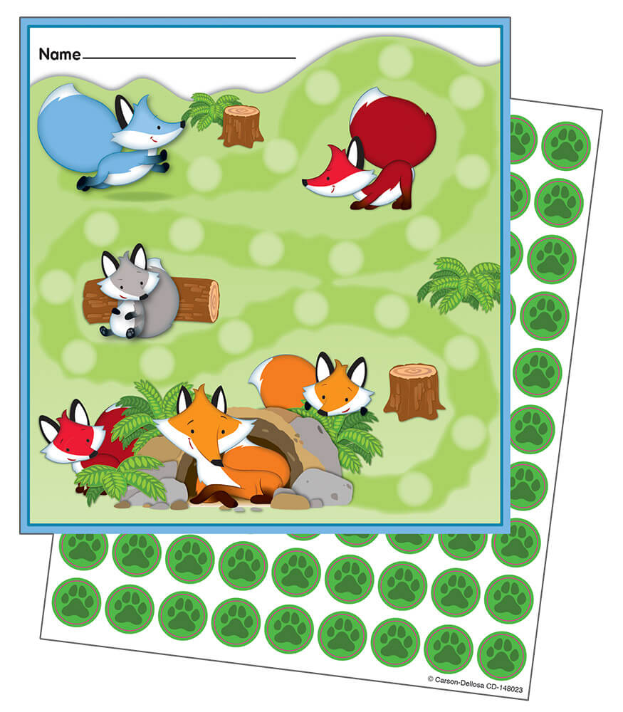 Playful Foxes Mini Incentive Charts Product Image