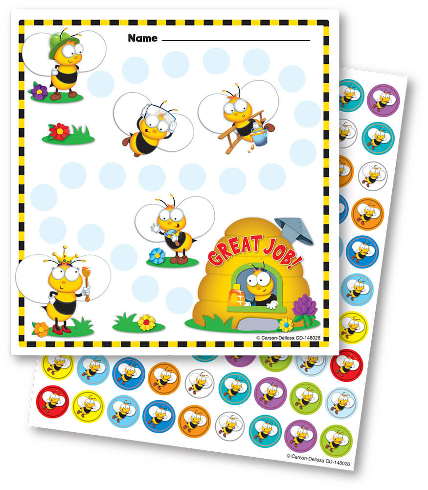 Buzz–Worthy Bees Mini Incentive Charts Product Image