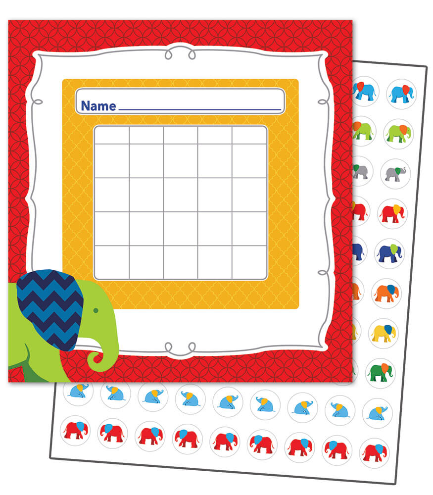 Parade of Elephants Mini Incentive Charts Product Image