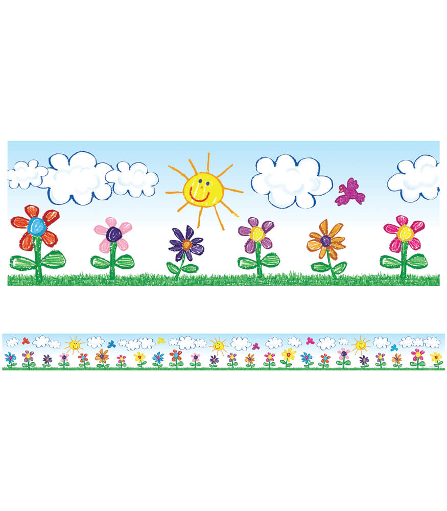 Flowers Straight Borders Product Image
