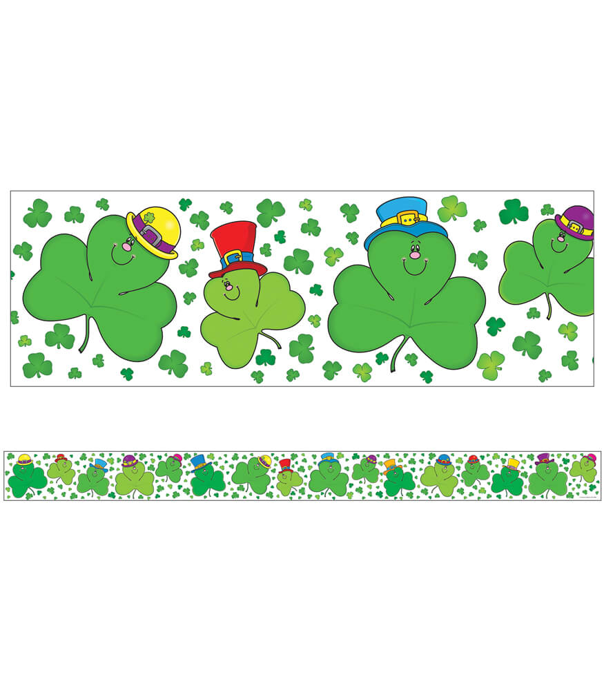 Shamrocks Straight Borders Product Image