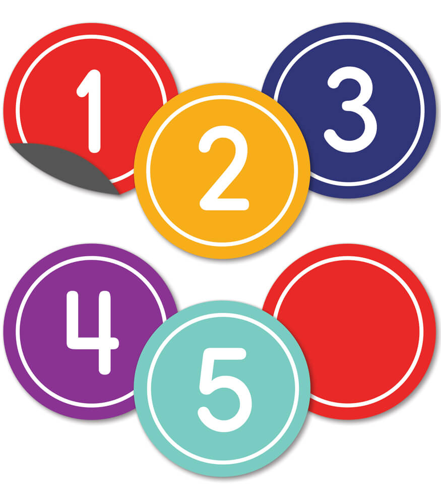 Classic Numbers Magnetic Cut-Outs Product Image
