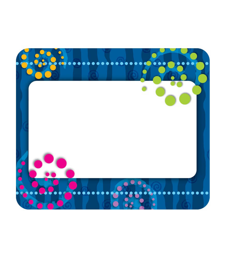 Dots 'n Swirls Name Tags Product Image