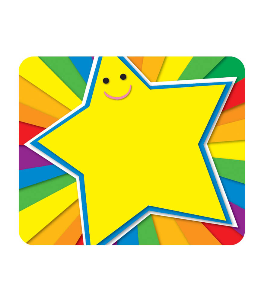 Rainbow Star Name Tags Product Image