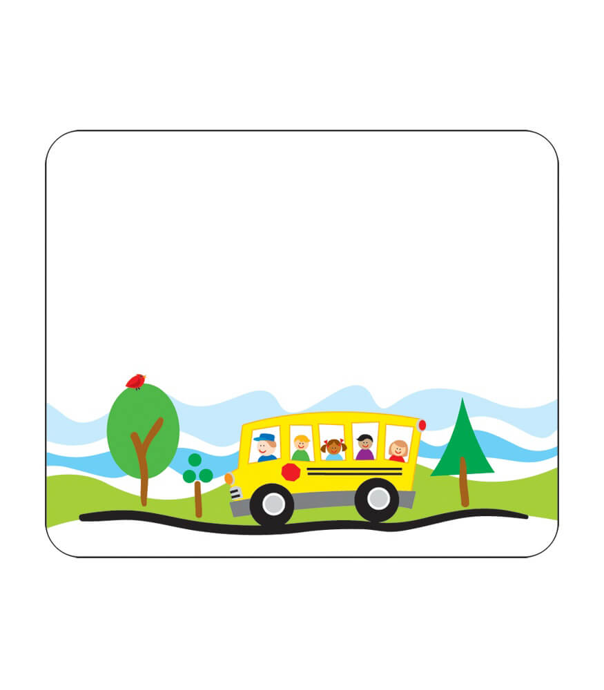 school bus name tags grade pk 5 rh carsondellosa com School Bus Safety Clip Art Carson-Dellosa Clip Art Animals