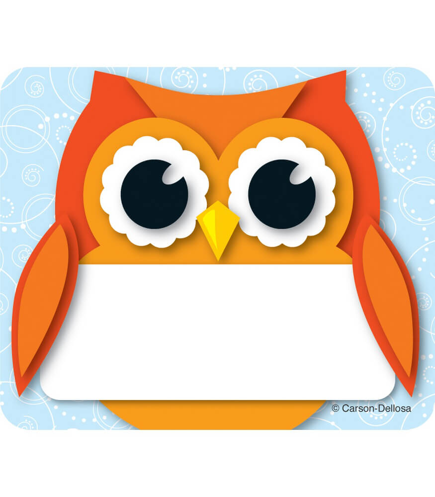 Colorful Owl Name Tags Product Image