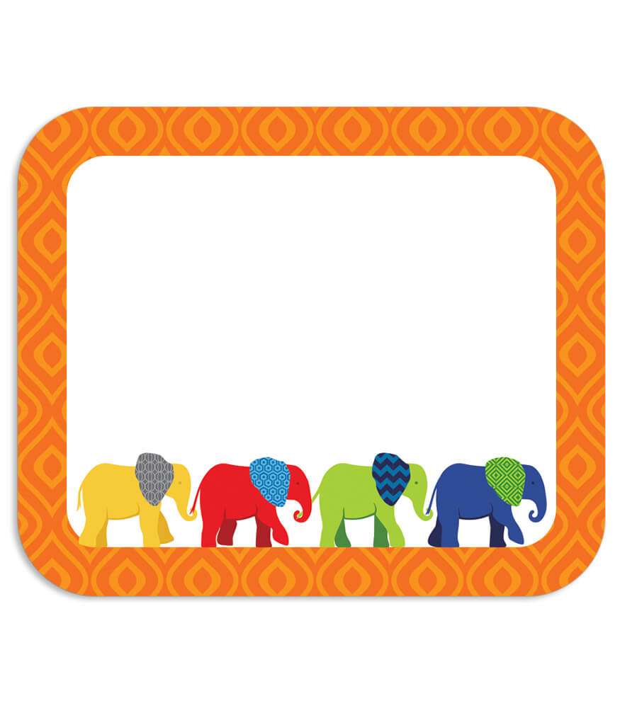 Parade of Elephants Name Tags Product Image