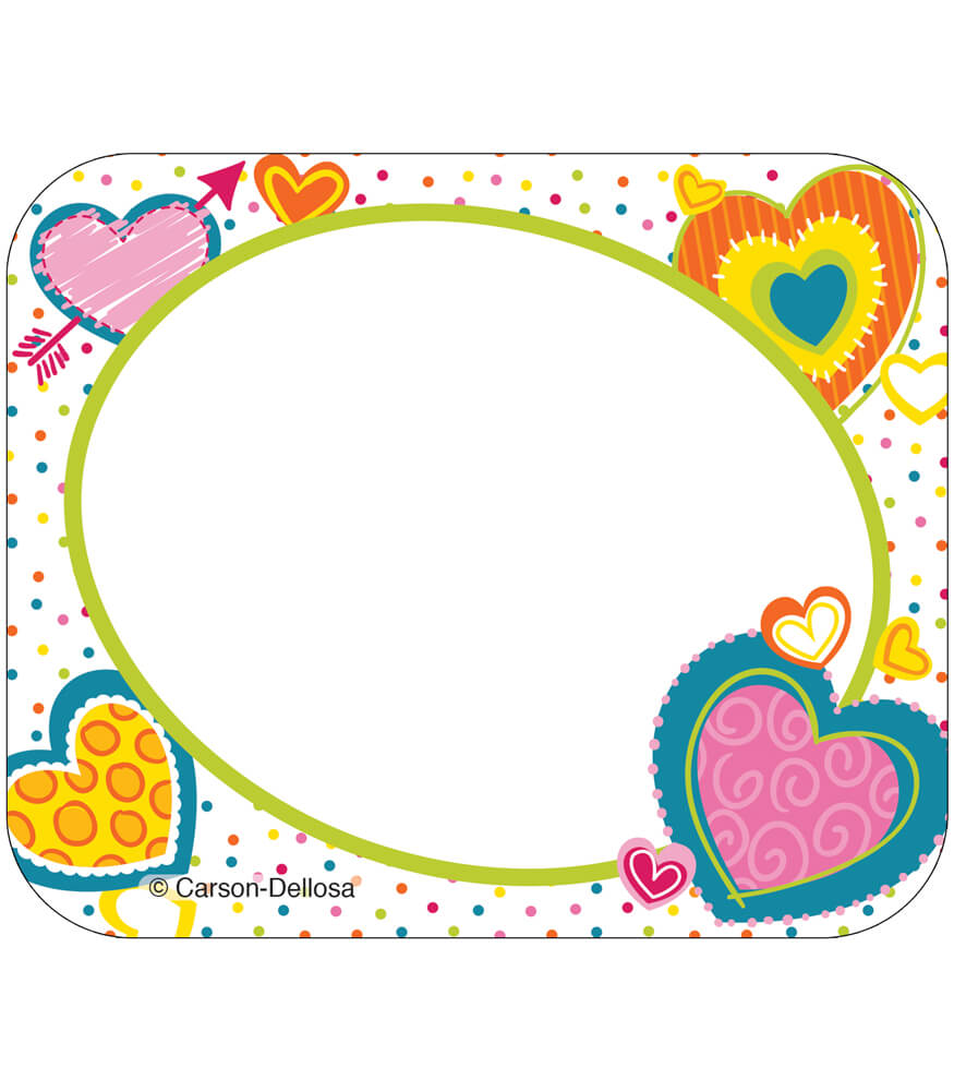 Hearts Name Tags Product Image