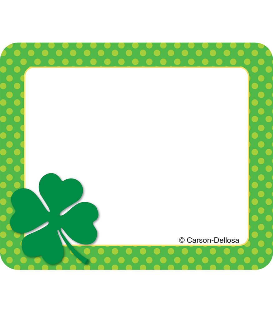 St. Patrick's Day Name Tags Product Image