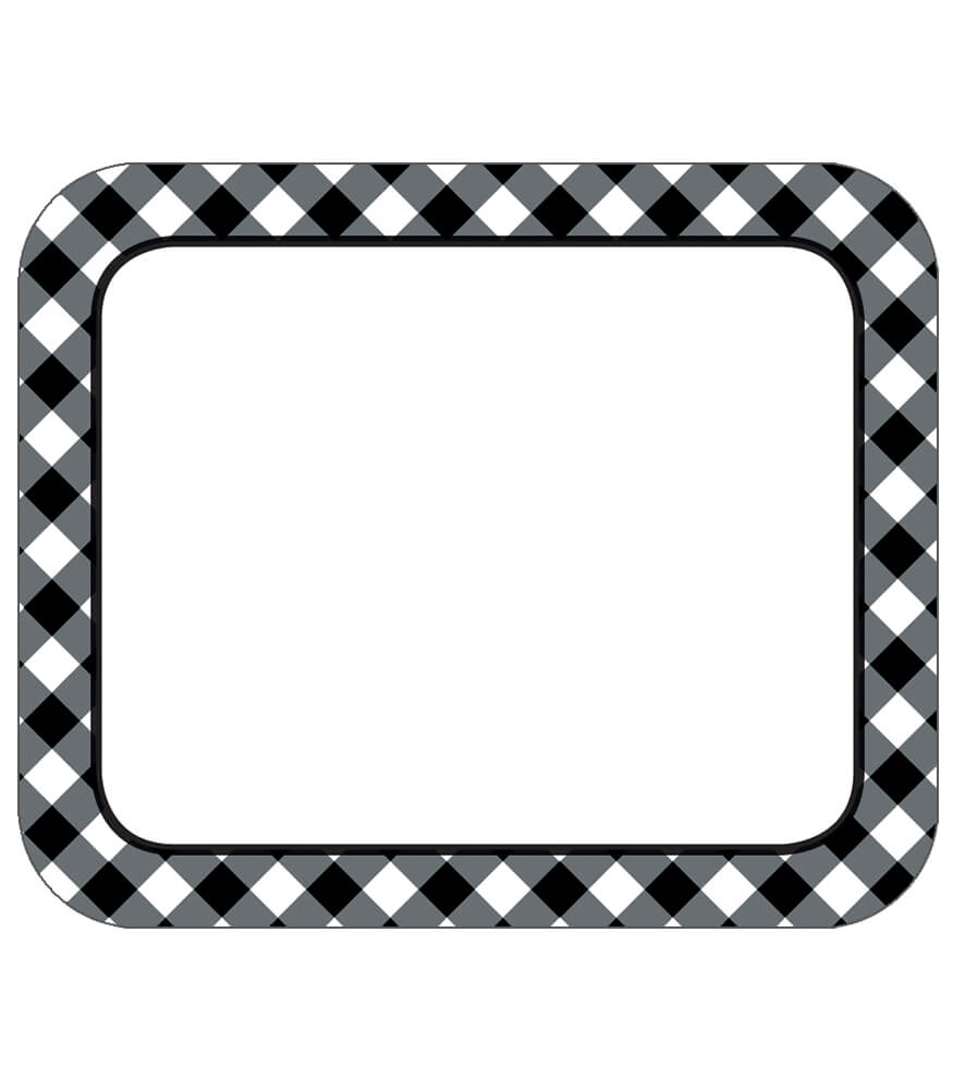 Black & White Gingham Name Tags Product Image
