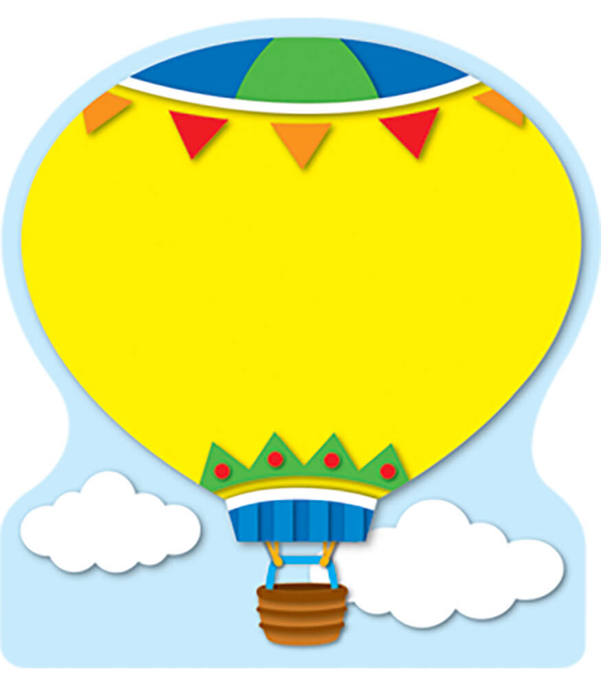 Hot Air Balloon Notepad Product Image