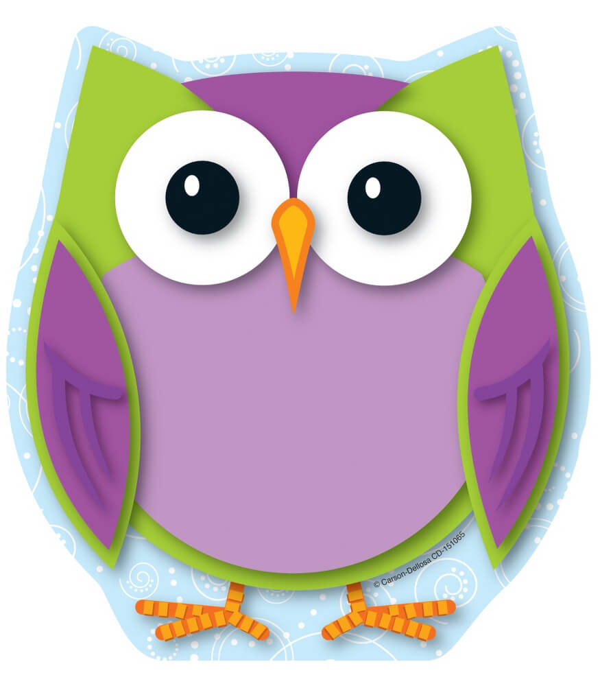 colorful owl notepad grade pk 8 rh carsondellosa com Wise Owl Clip Art colourful owl clipart