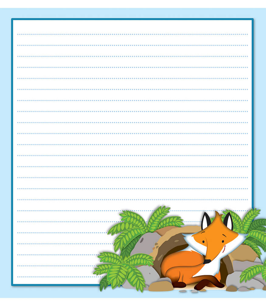 Playful Fox Notepad Product Image