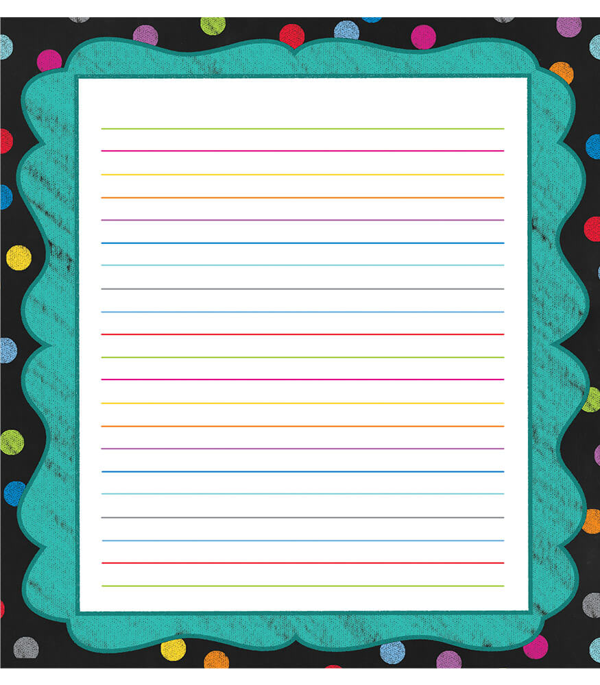 Colorful Chalkboard Notepad Product Image