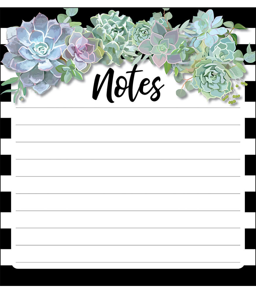 Simply Stylish Succulents Notepad Product Image