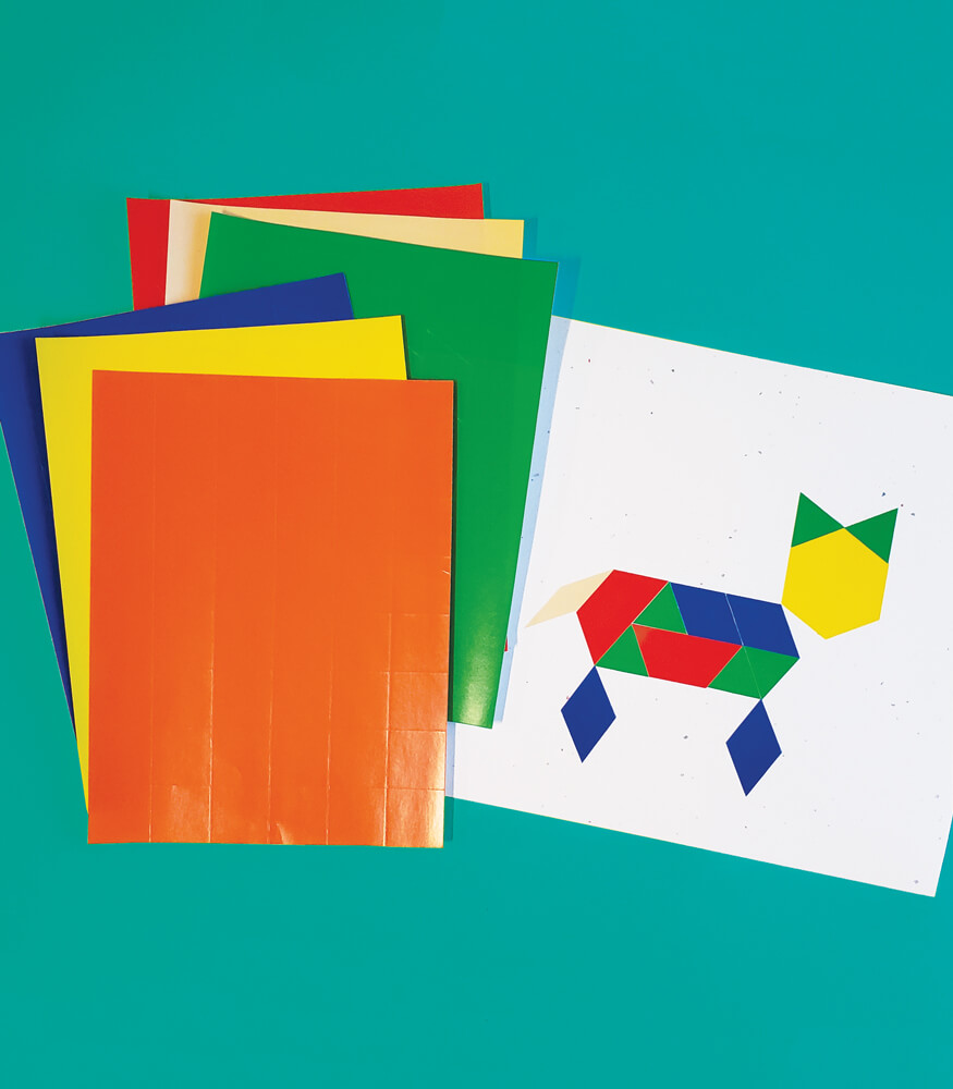 Pattern Blocks Stickers Sticker Pack Product Image