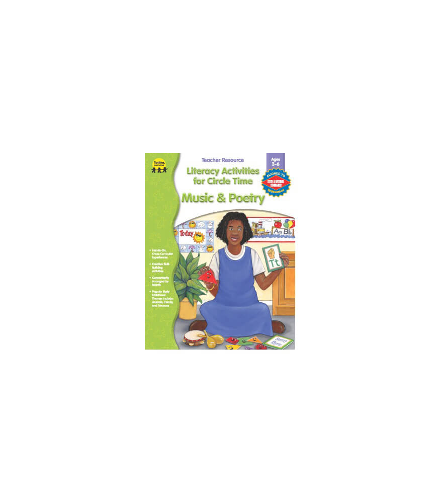 Music & Poetry Literacy Activities for Circle Time Resource Book Product Image
