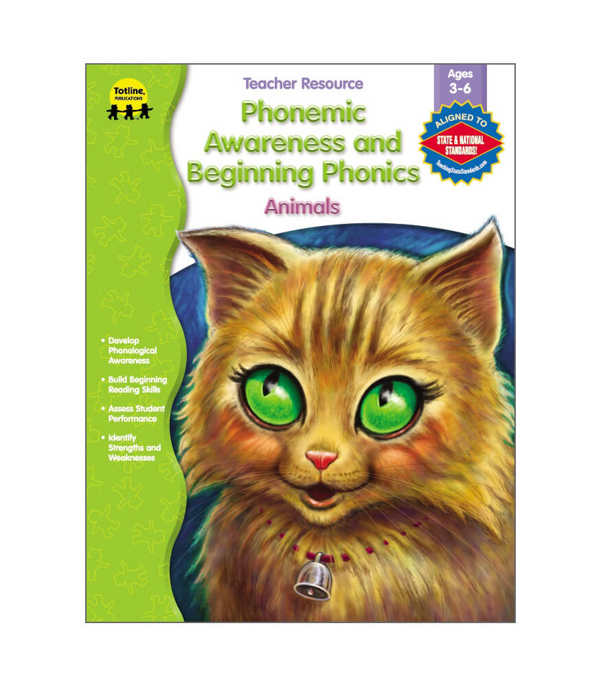 Phonemic Awareness and Beginning Phonics, Animals Resource Book Product Image
