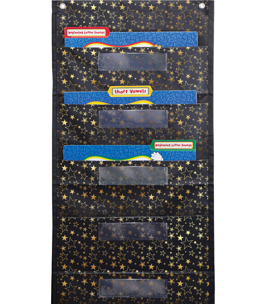 File Folder Storage: Gold Stars Pocket Chart Product Image