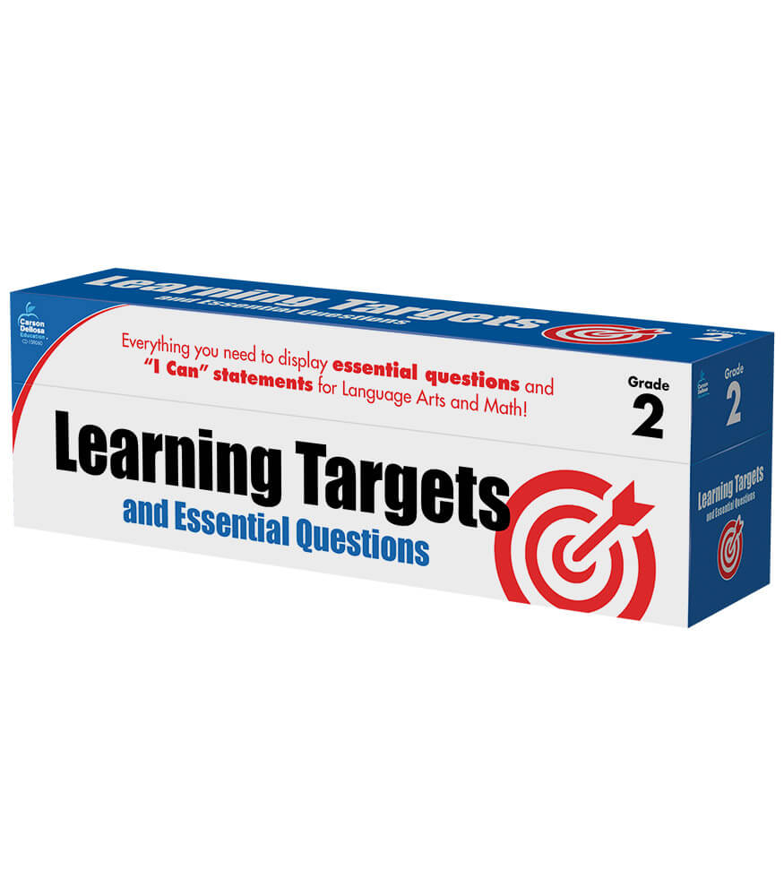 Learning Targets and Essential Questions Pocket Chart Cards Product Image