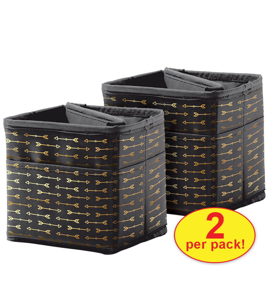 Tabletop Storage: Black with Gold Arrows Pocket Chart Storage Product Image