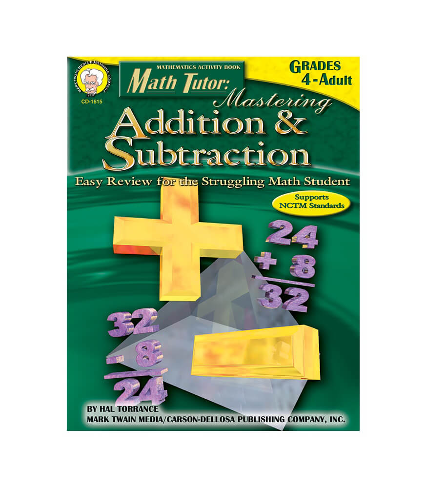 Math Tutor: Mastering Addition & Subtraction Resource Book Product Image