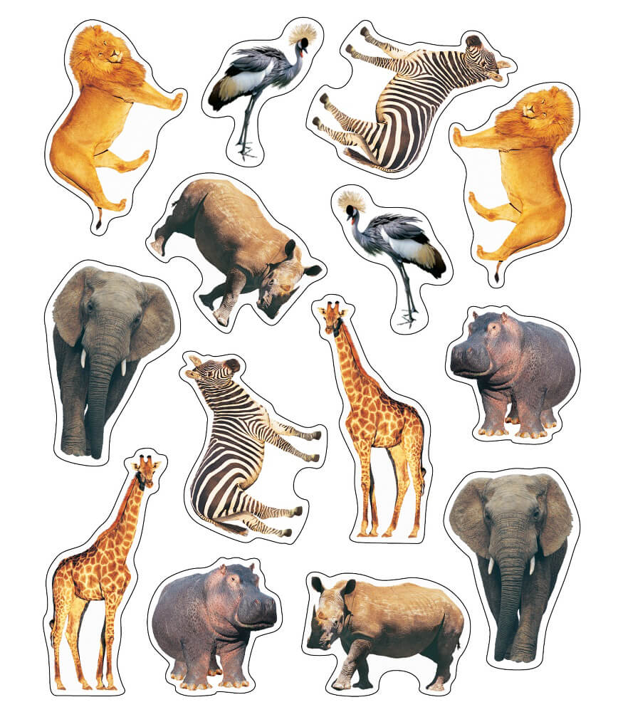Wild Animals of the Serengeti Shape Stickers Product Image