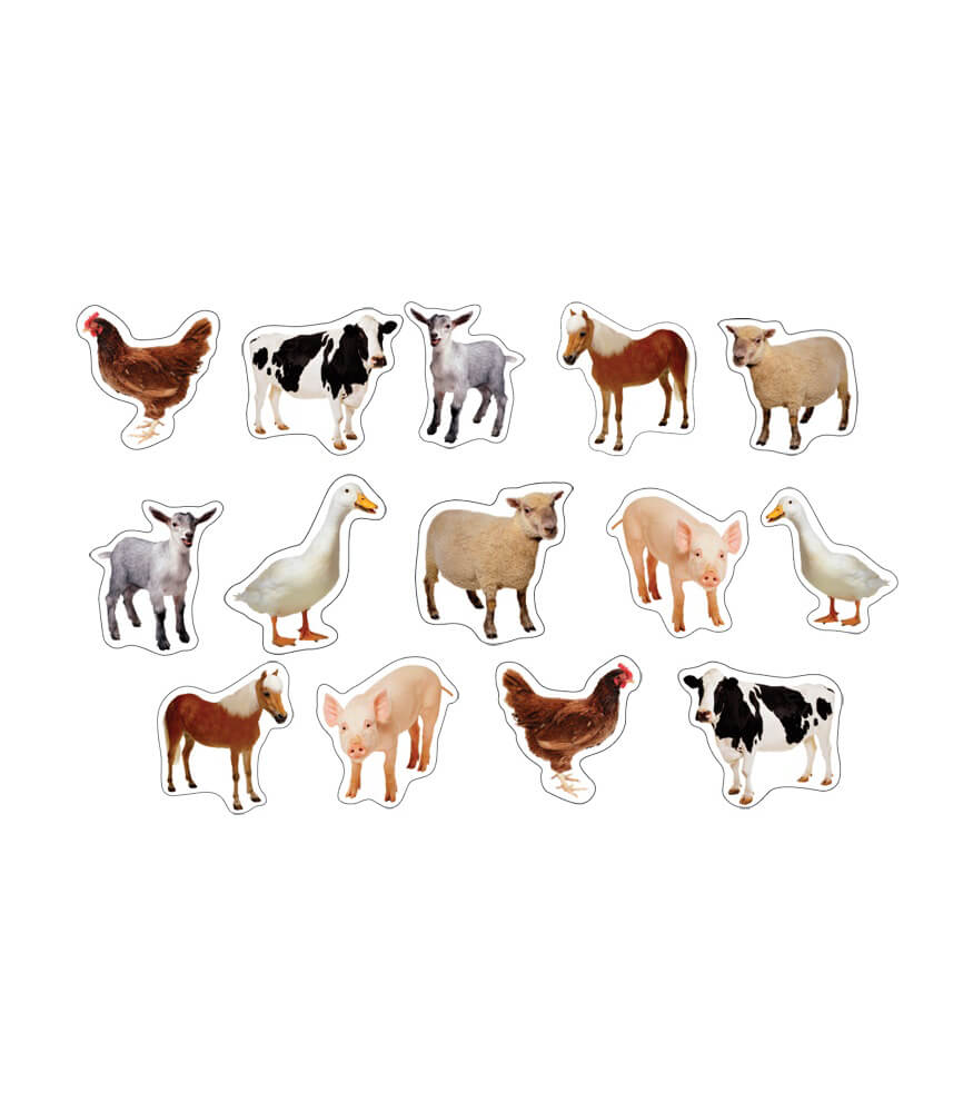 Farm Animals: Photographic Shape Stickers Product Image
