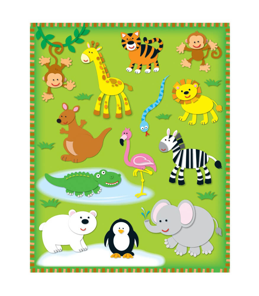 Zoo Shape Stickers Product Image