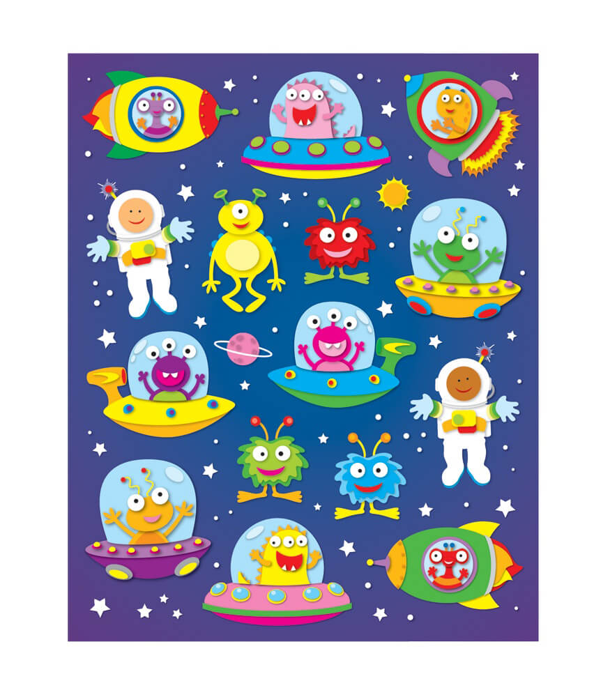 Out of this World Shape Stickers Product Image