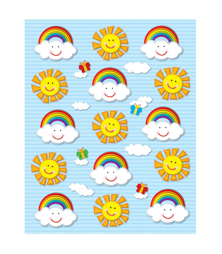 Suns & Rainbows Shape Stickers Product Image