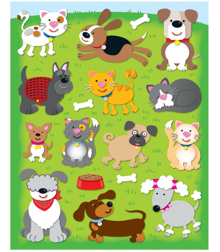 Dogs & Cats Shape Stickers Product Image
