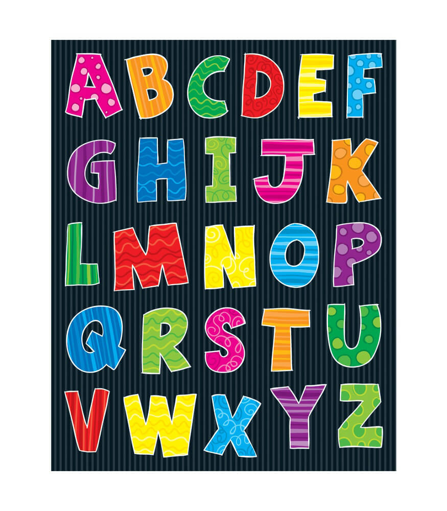 Alphabet Uppercase Letters Shape Stickers Product Image
