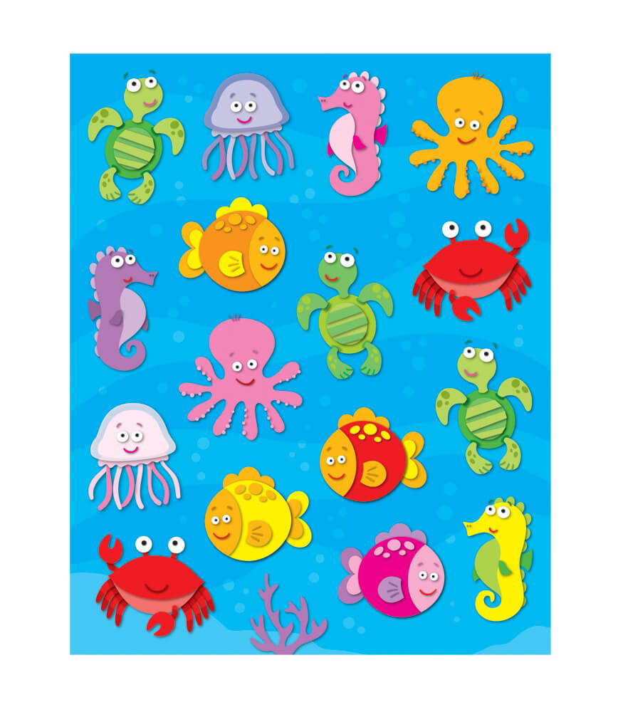 Sea Life Shape Stickers Product Image
