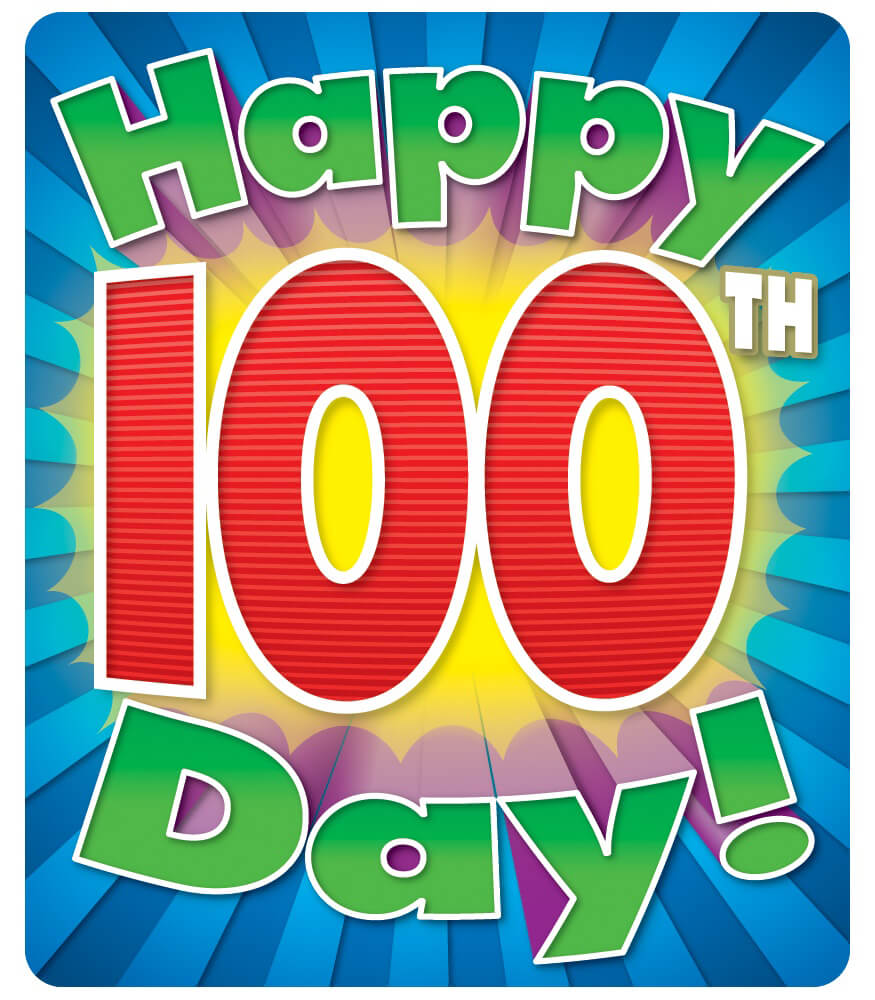 Happy 100th Day Motivational Stickers Product Image
