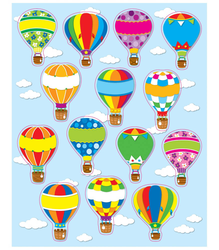 Hot Air Balloons Shape Stickers Product Image