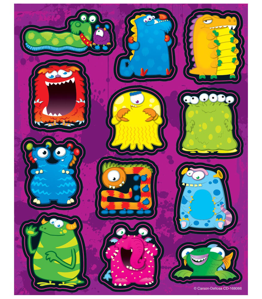 Monsters Shape Stickers Product Image