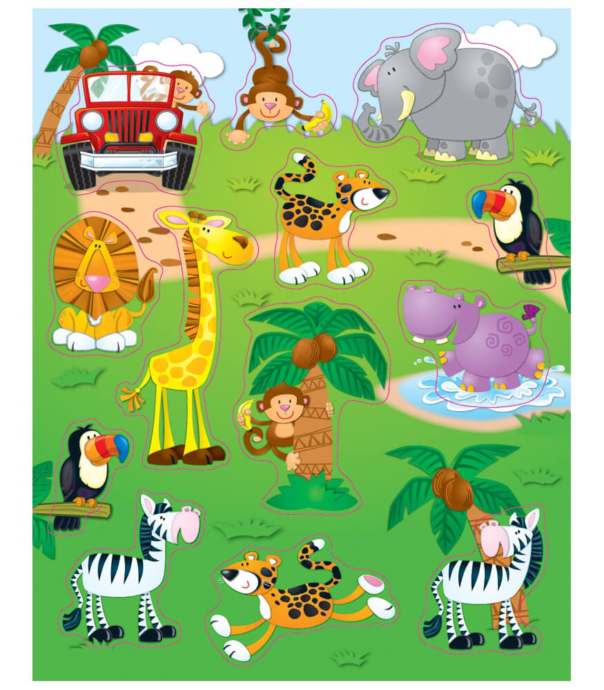 Jungle Safari Shape Stickers Product Image