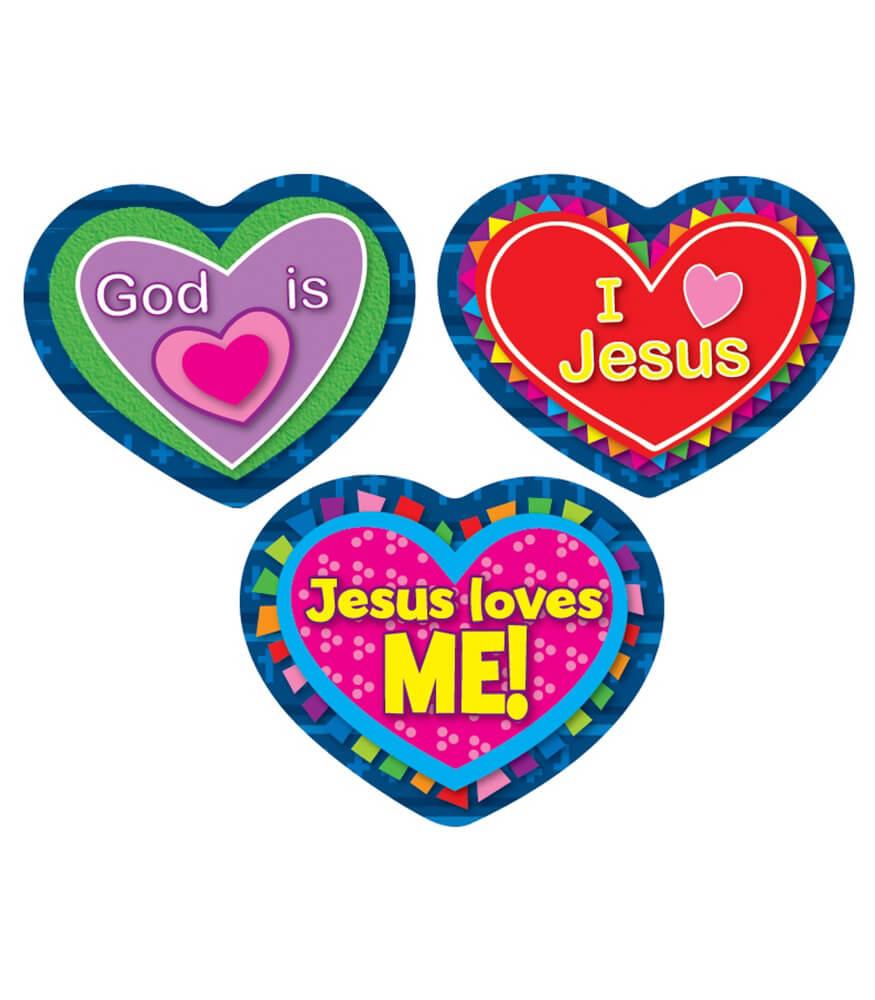 Jesus Loves Me! Shape Stickers Product Image