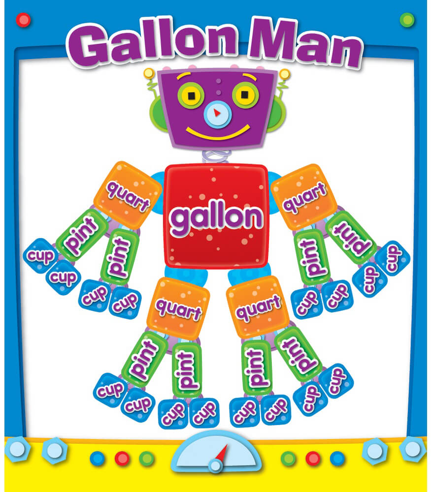 Gallon Man Sticker Pack Grade 1-4 | Carson-Dellosa Publishing