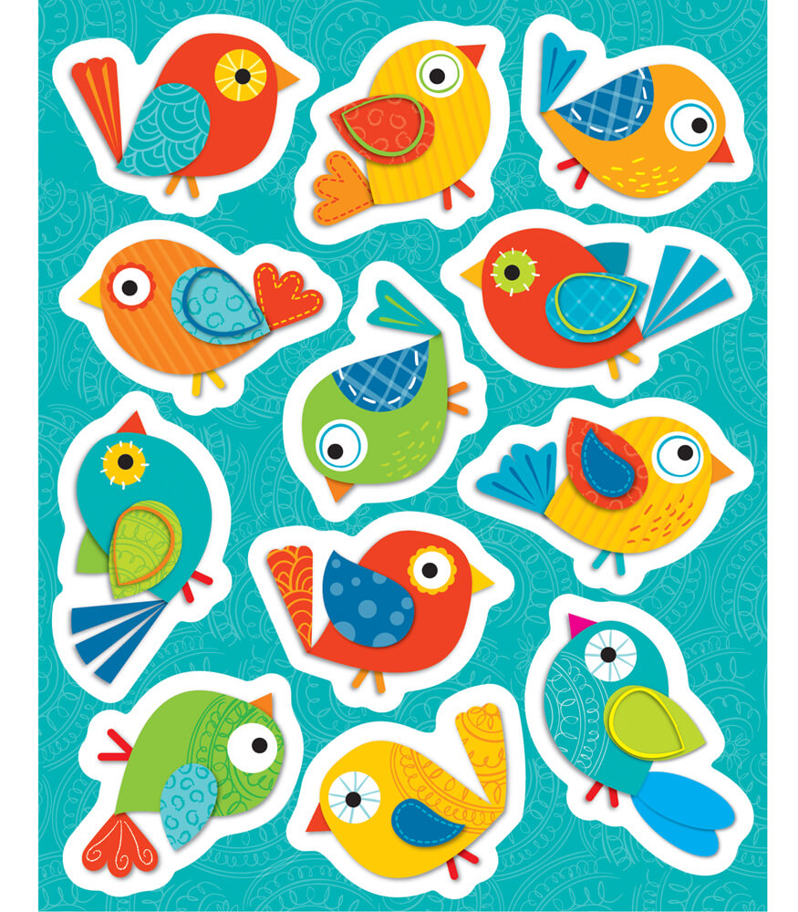 Boho Birds Shape Stickers Product Image